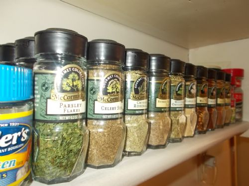 Spice Shelf Order - Front to Back