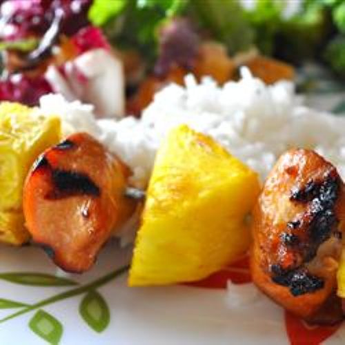Hawaiian Chicken skewers