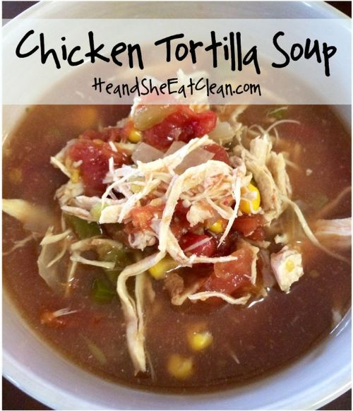 Tortilla crockpot soup