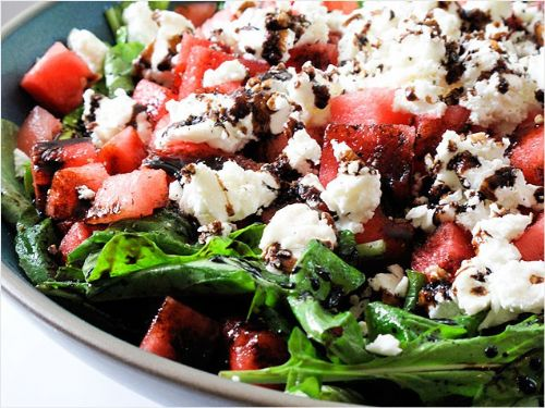 Arugula, Watermelon, and Feta Salad
