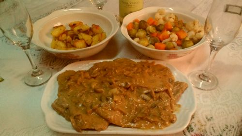 Veal Scaloppini with Mushroom Cream Sauce