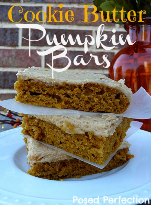 Cookie Butter Frosted Pumpkin Bars