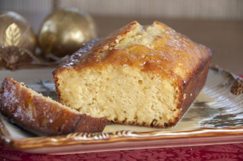 Orange-Glazed Eggnog Quick Bread
