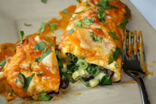 Black Bean Spinach Enchilada