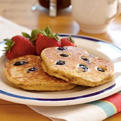 Lighter Blueberry Pancakes