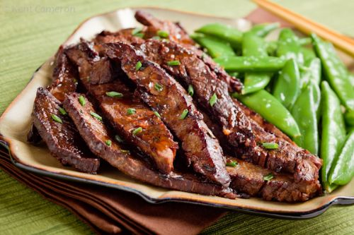 Asian Flank Steak with Ginger Balsamic Marinade