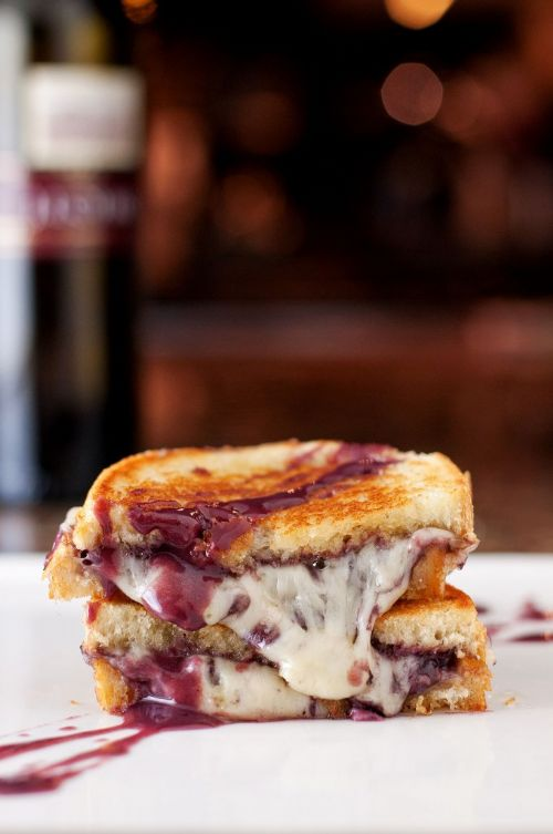 Wine and Cheese Grilled Cheese