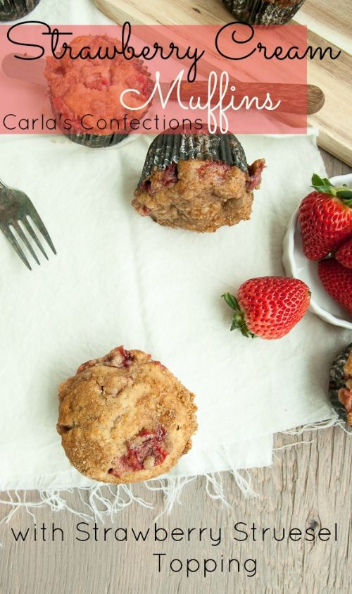 Strawberry Cream Muffins