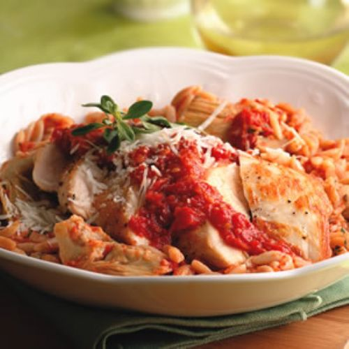 Chicken and Sun Dried Tomato Orzo