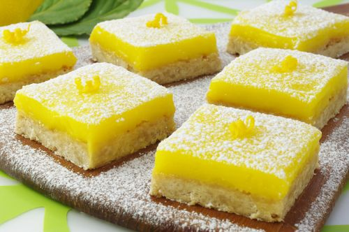 Shortbread with Lemon Curd Bars