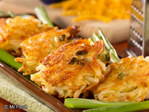Cheddar Potato Latkes