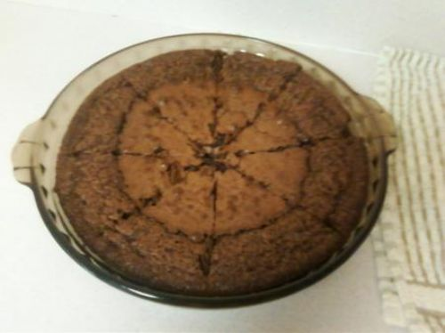 No Crust Fudge Pie