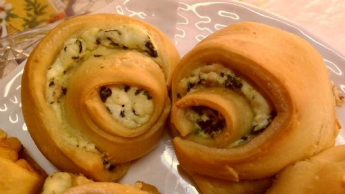 Ricotta, bacon and spinach Pinwheels!