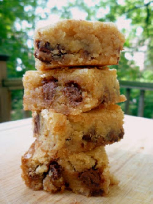 Chocolate Chip Graham Cracker Blondies