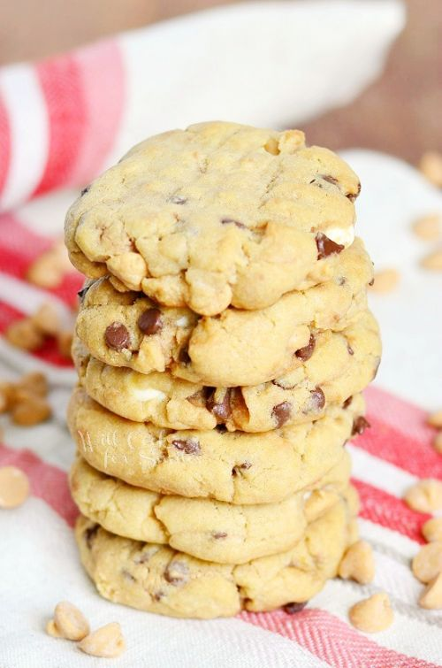 Soft and Gooey Loaded Peanut Butter Cookies