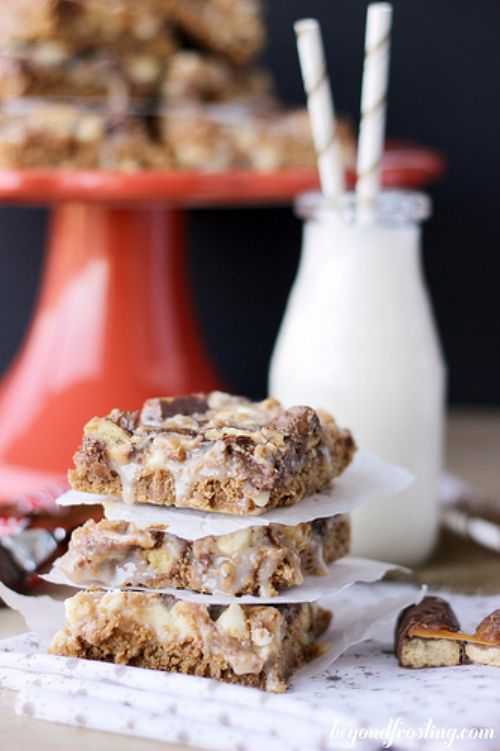Gooey Gingerbread Twix Bars