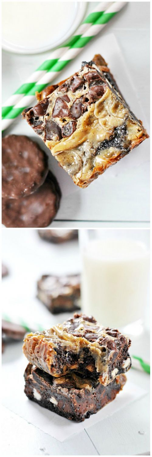 Thin Mint Magic Cookie Bars