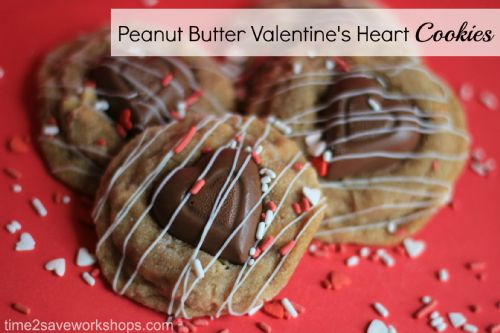 Peanut Butter Valentines Heart Cookies
