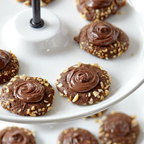 Chocolate Hazelnut Thumbprints