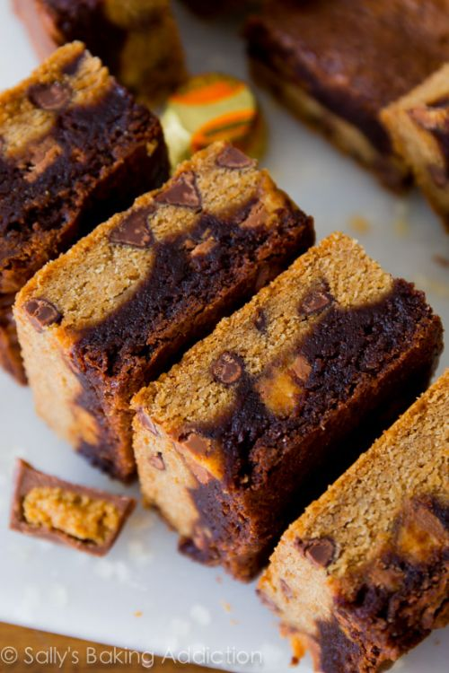 Fudge Brownie PB Cup Cookie Bars