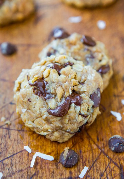 Soft and Chewy Oatmeal Coconut Choco Chip Cookies