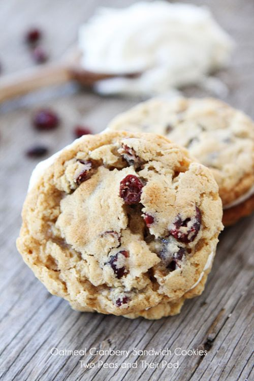Oatmeal Cranberry Sandwich Cookies with Filling