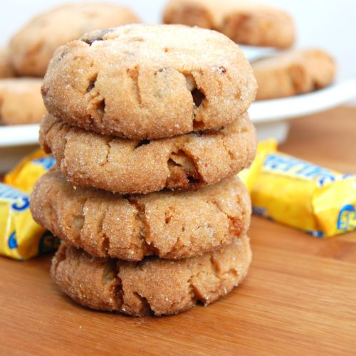 Butterfinger Chocolate Chip Peanut Butter Cookies