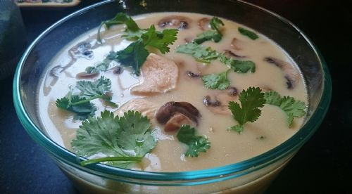 Tom Kha Gai (Chicken Coconut Milk Soup)