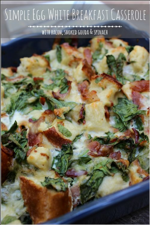 Egg white breakfast casserole