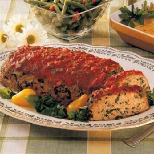 Turkey Spinach Meat Loaf
