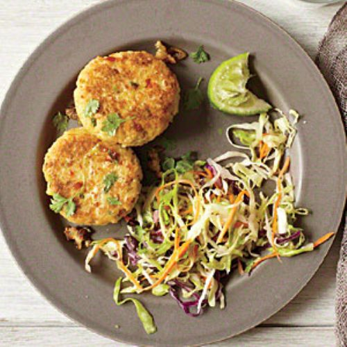 Green Curry Chicken Fritters
