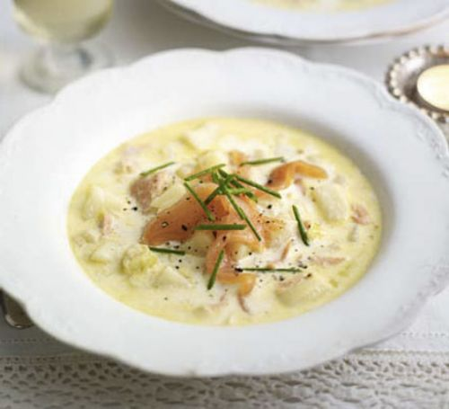 Salmon and Leek Chowder