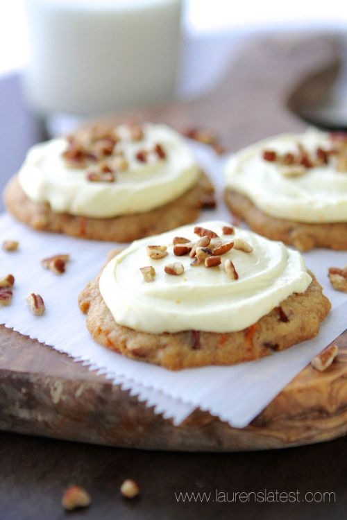Carrot Cake Pecan Cookies with Orange Frosting Recipe