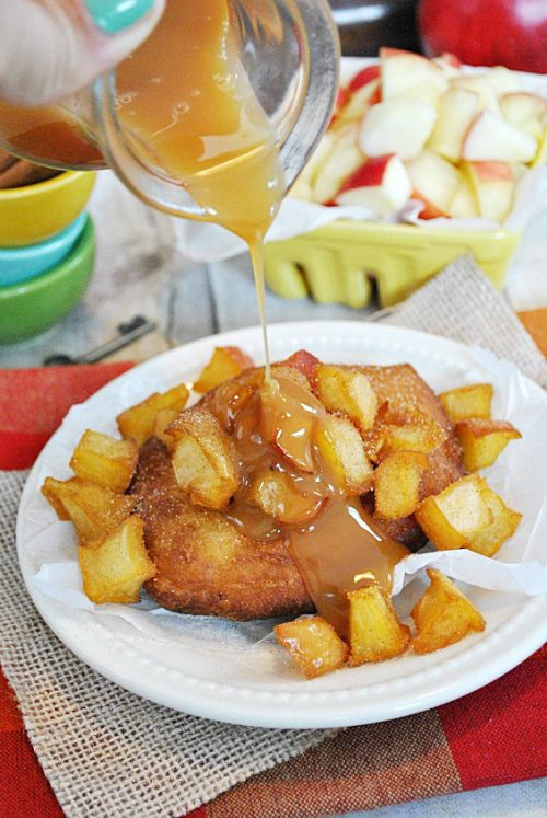 Inside Out Caramel Apple Fritters
