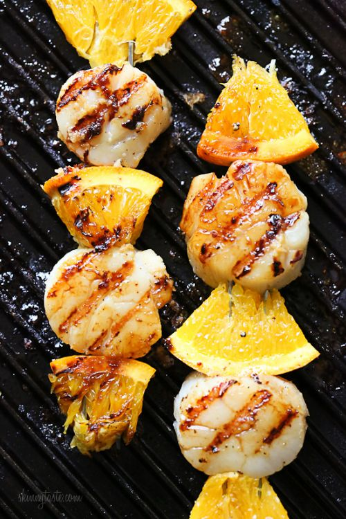 Scallop and Orange Kebabs with Honey-Ginger