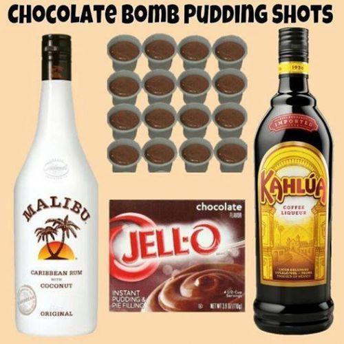 Chocolate Bomb Pudding Shots Recipe