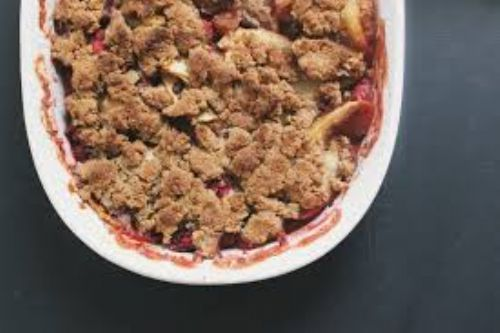 Apple Cranberry Coconut Crisp