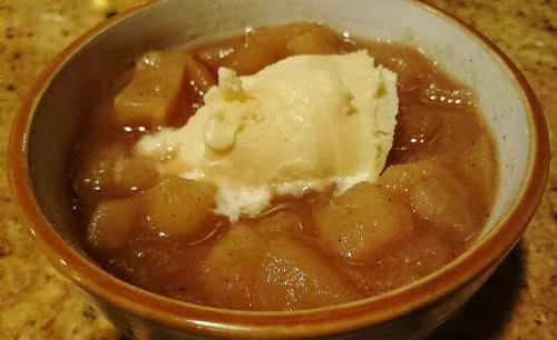 Pear-Apple Compote w/Cinnamon-Vanilla Bean Whip