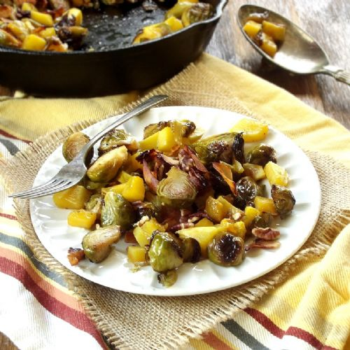 Maple Roasted Brussels Sprouts & Butternut Squash