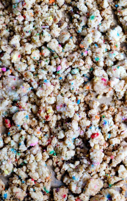 Birthday Cake Crumbs for Confetti Cookies