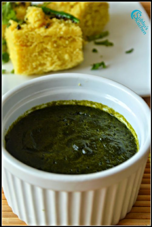 green chaat chutney (spicy)