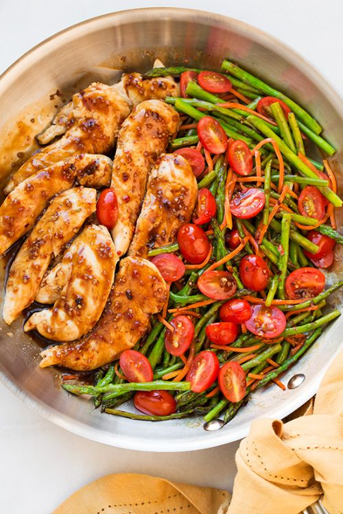 One Pan Balsamic Chicken and Veggies