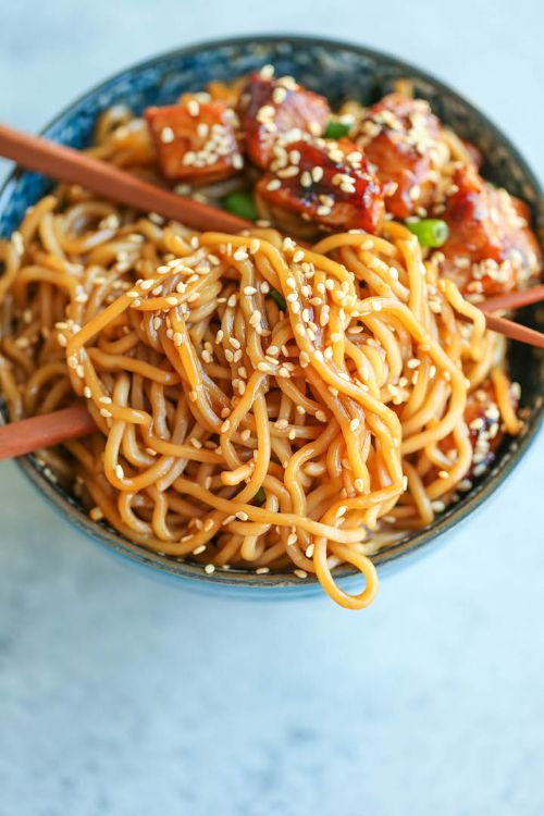 Teriyaki Chicken Noodle Bowls Recipe