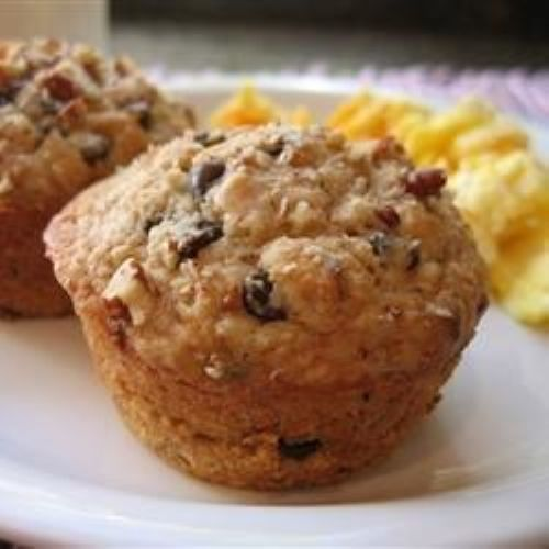 Banana-chip oat muffins