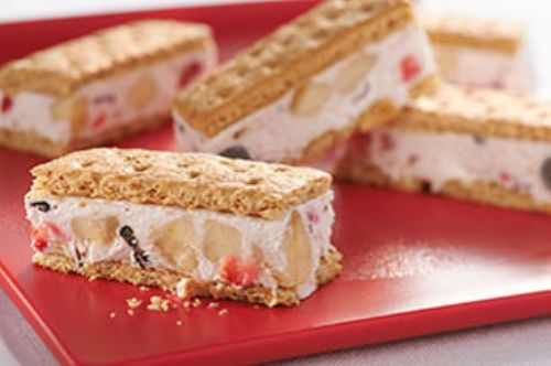 Banana-Berry Frozen Yogurt Bars