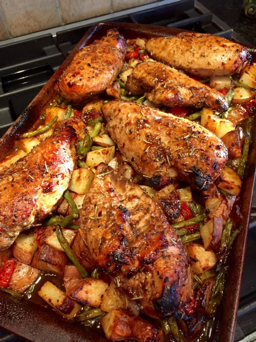 Balsamic Honey Sheet Pan Chicken
