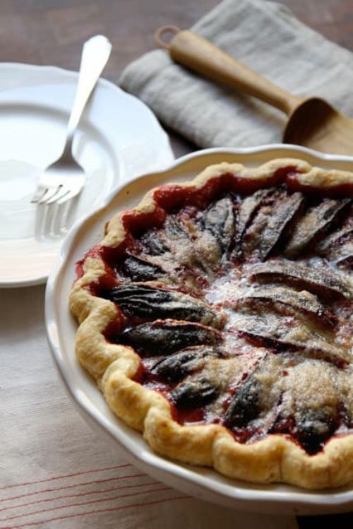 End of Summer Prune Plum Pie
