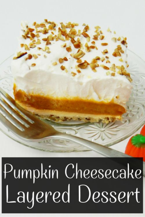 Pumpkin Cheesecake Layered Dessert