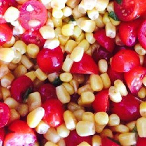 Tomato, Basil and Corn Salad Recipe