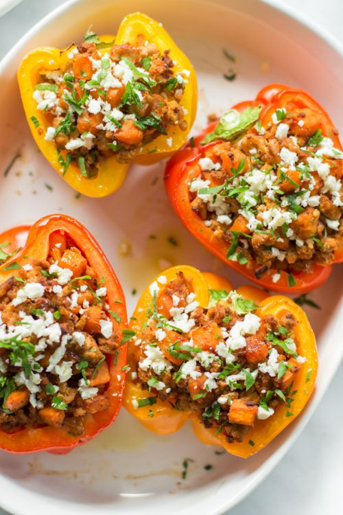 Groud Turkey Stuffed Peppers